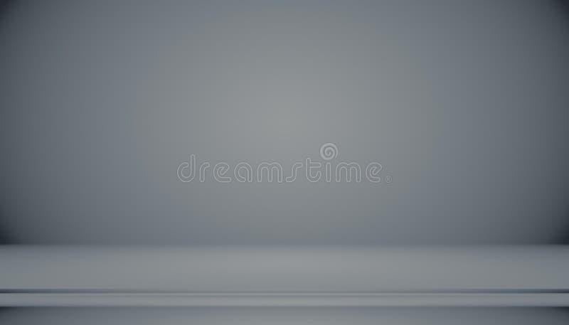 Inclinação preto luxuoso abstrato com contexto do estúdio do fundo da vinheta da beira - uso bom como o fundo do contexto, estúdi ilustração royalty free