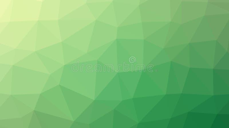 Inclinação verde abstrato do vetor lowploly do fundo de muitos triângulos para o uso no projeto ilustração do vetor