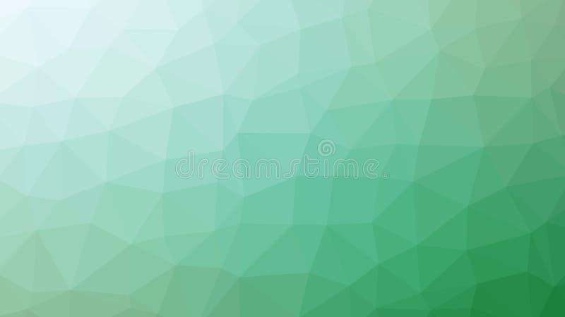 Inclinação verde abstrato do vetor lowploly do fundo de muitos triângulos para o uso no projeto ilustração stock