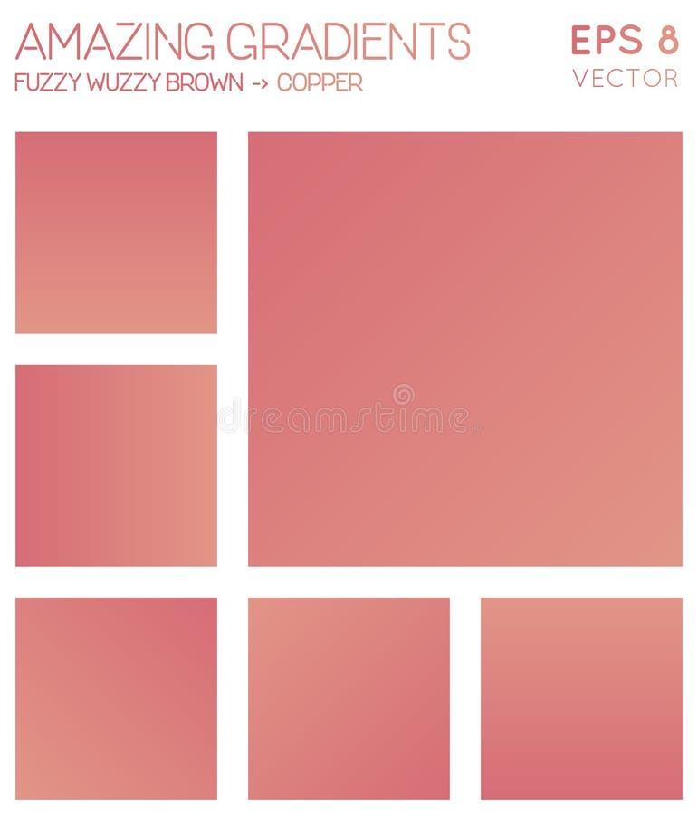Inclinações coloridos no marrom do cobertor, cobre ilustração do vetor