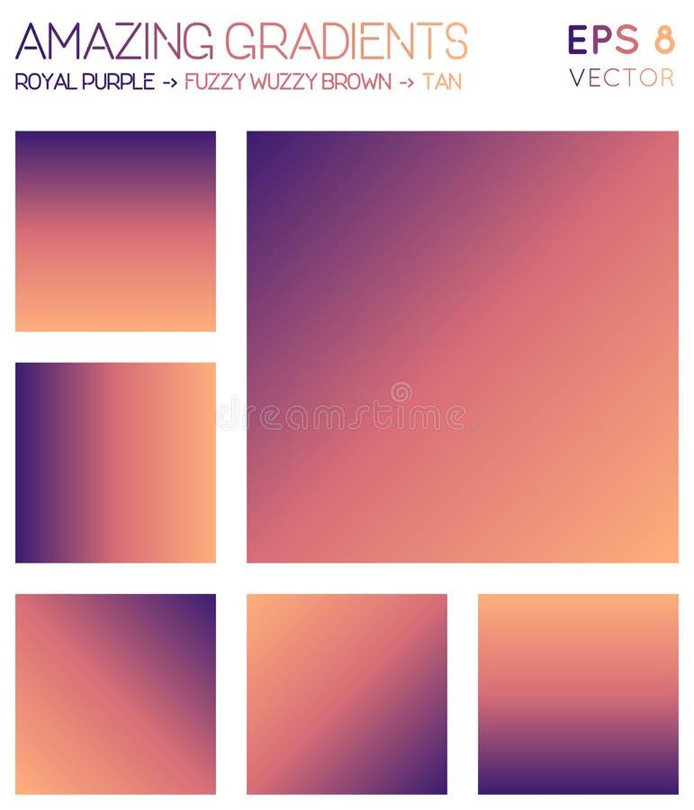 Inclinações coloridos no roxo real, cobertor ilustração royalty free