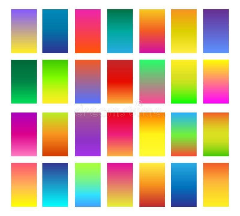 Inclinações da cor ajustados ilustração stock