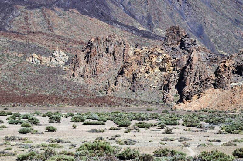 Inclinações de Teide. Parque nacional em Tenerife. fotografia de stock royalty free