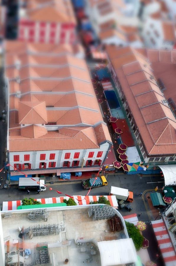 inclinaison de décalage de chinatown photographie stock