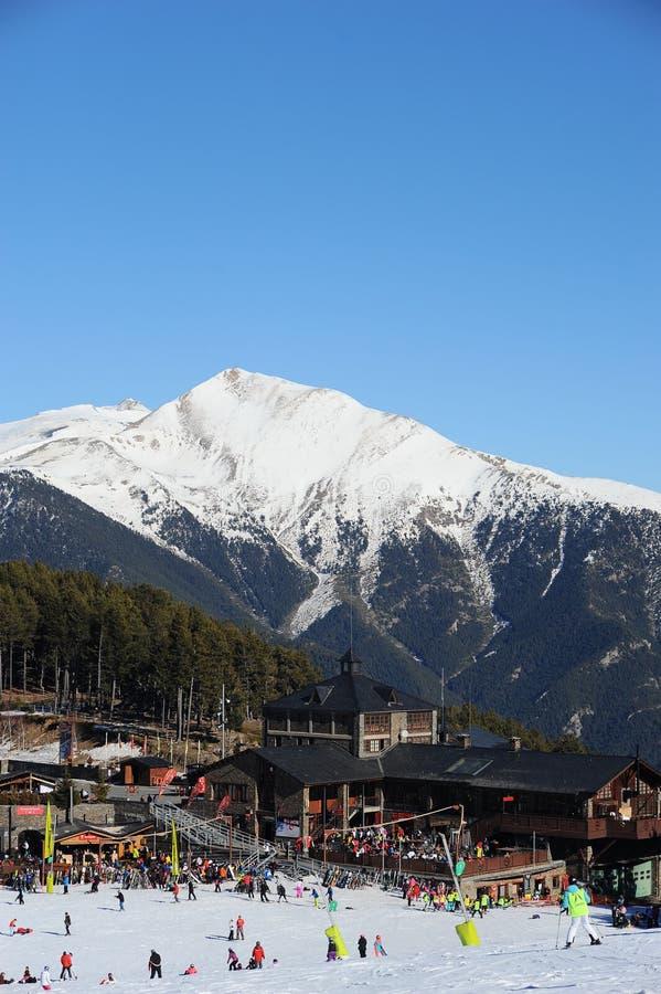 Incline-se para novatos Al Planell, Vallnord, principado de Andorra, Pyrenees, Europa imagem de stock