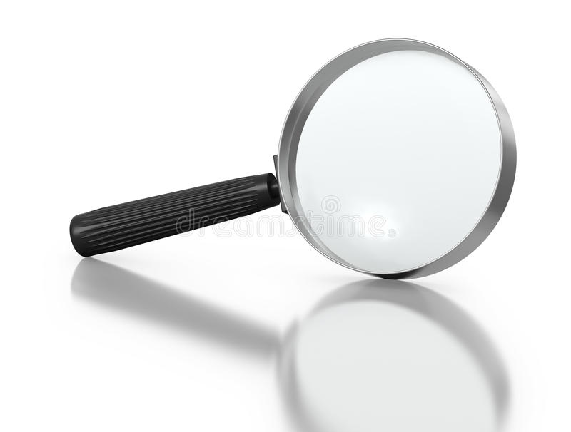 Inclined magnifying glass royalty free stock images