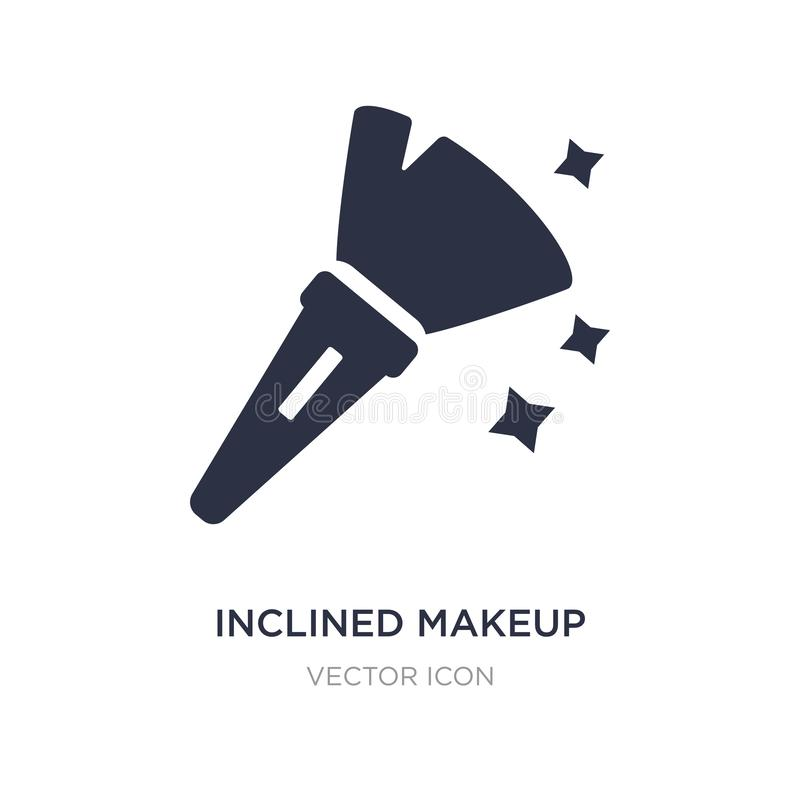 Inclined makeup brush icon on white background. Simple element illustration from Beauty concept. Inclined makeup brush sign icon symbol design stock illustration