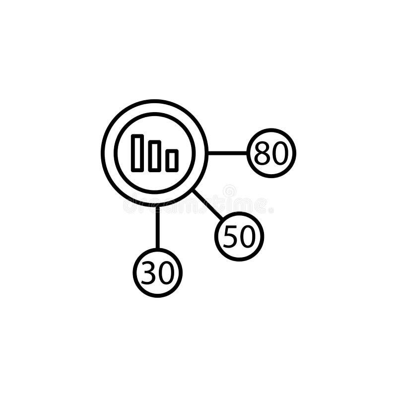 Inclua no orçamento o planeamento, retorno do interesse, gestão financeira, ícone das economias Elemento da ilustração da diversi ilustração stock