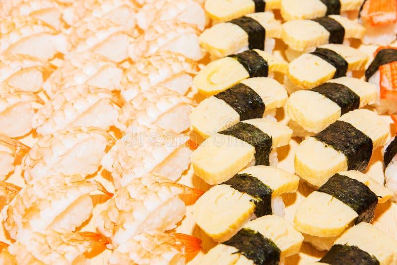 Including sushi, Japanese food stock photo