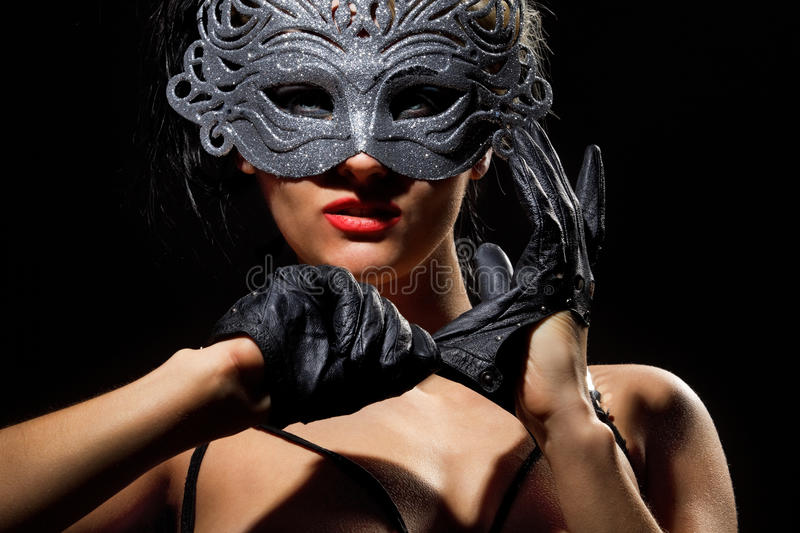 Download Incognito Woman In Ancient Style Mask Stock Photo - Image: 22971820