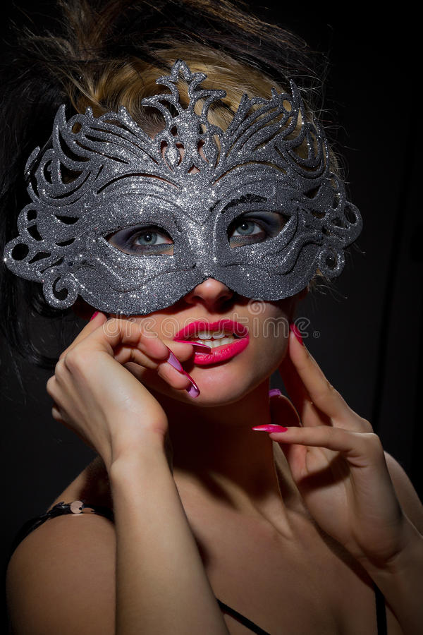Download Incognito Woman In Ancient Style Mask Royalty Free Stock Photography - Image: 29155107