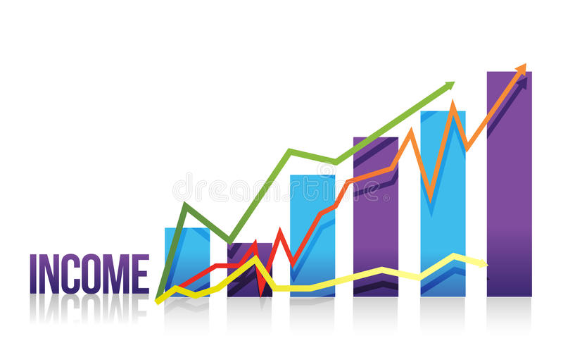 Download Income Colorful Graph Illustration Stock Photography - Image: 27277152