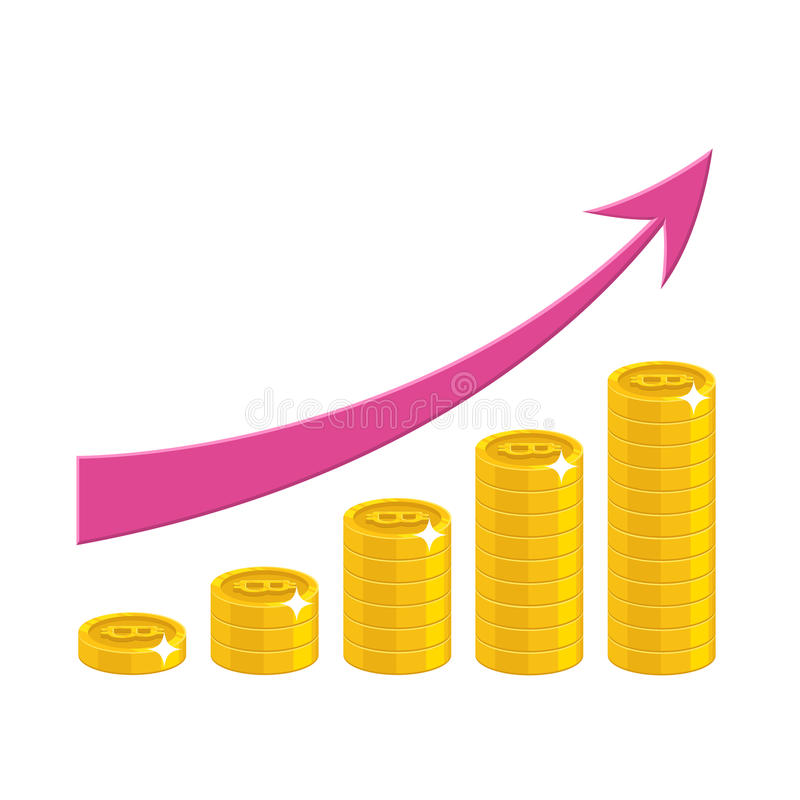 Income growth cartoon style isolated vector illustration