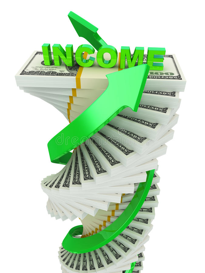 Income Growth Concept Royalty Free Stock Photos