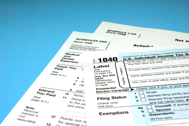 Income Tax Forms Royalty Free Stock Image