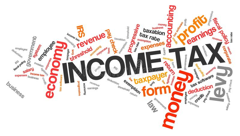 Income tax stock illustration