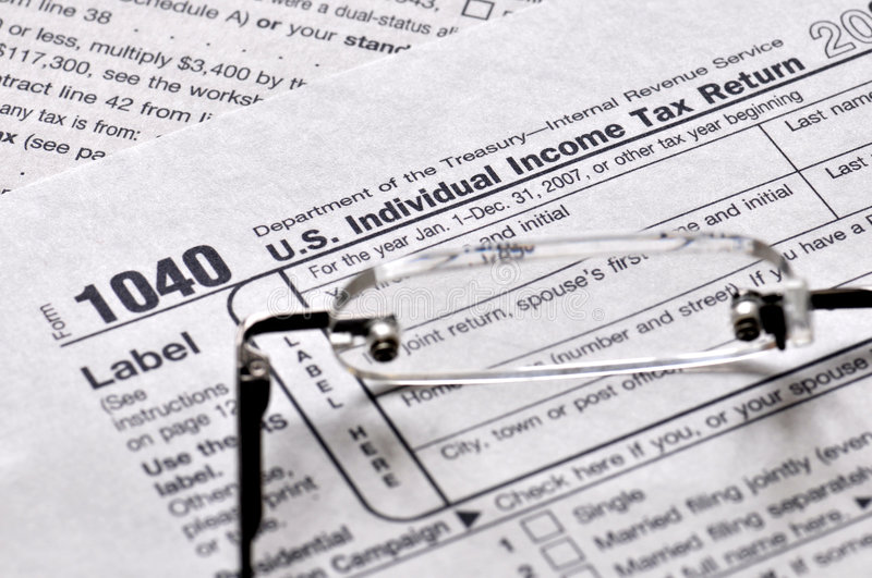 Income Tax Time Royalty Free Stock Photo