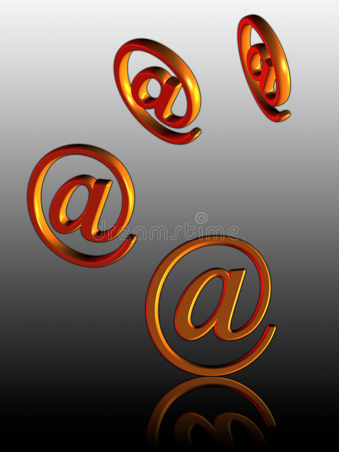 Incoming e-mail (01) stock image