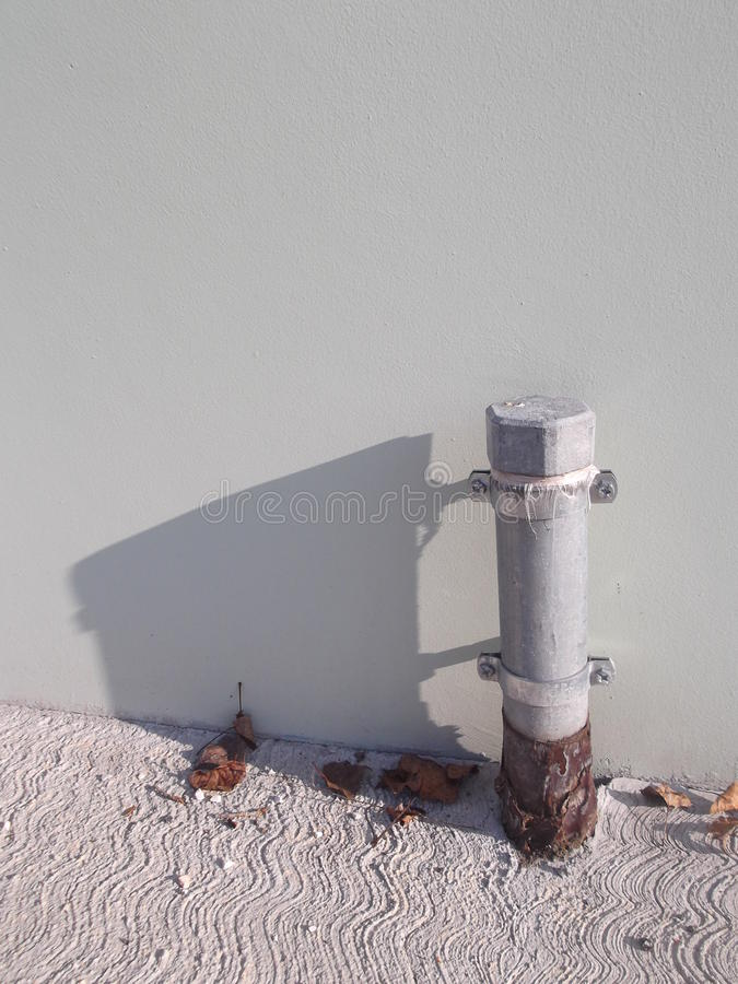 Incoming gas pipe. For laboratory royalty free stock photos