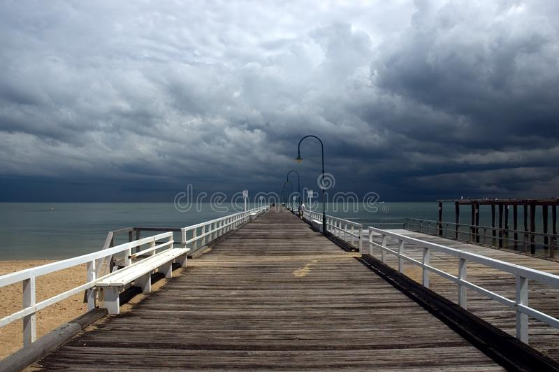 Incoming storm stock photography