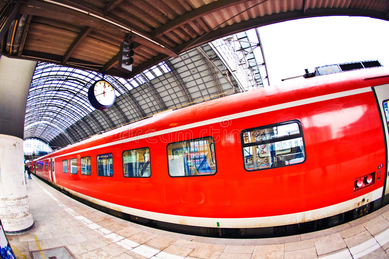 Download Incoming train in Station stock photo. Image of speed - 21296816