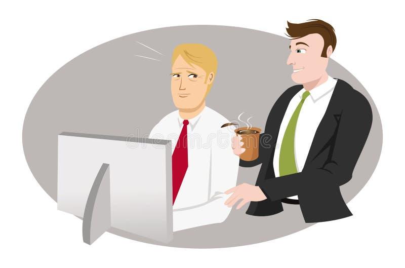 Incomodidade do indivíduo do escritório ilustração stock