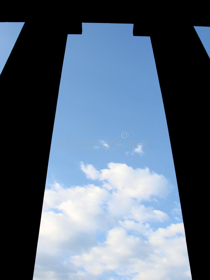 Download Incomplete - Columns And Sky Royalty Free Stock Image - Image: 3430996