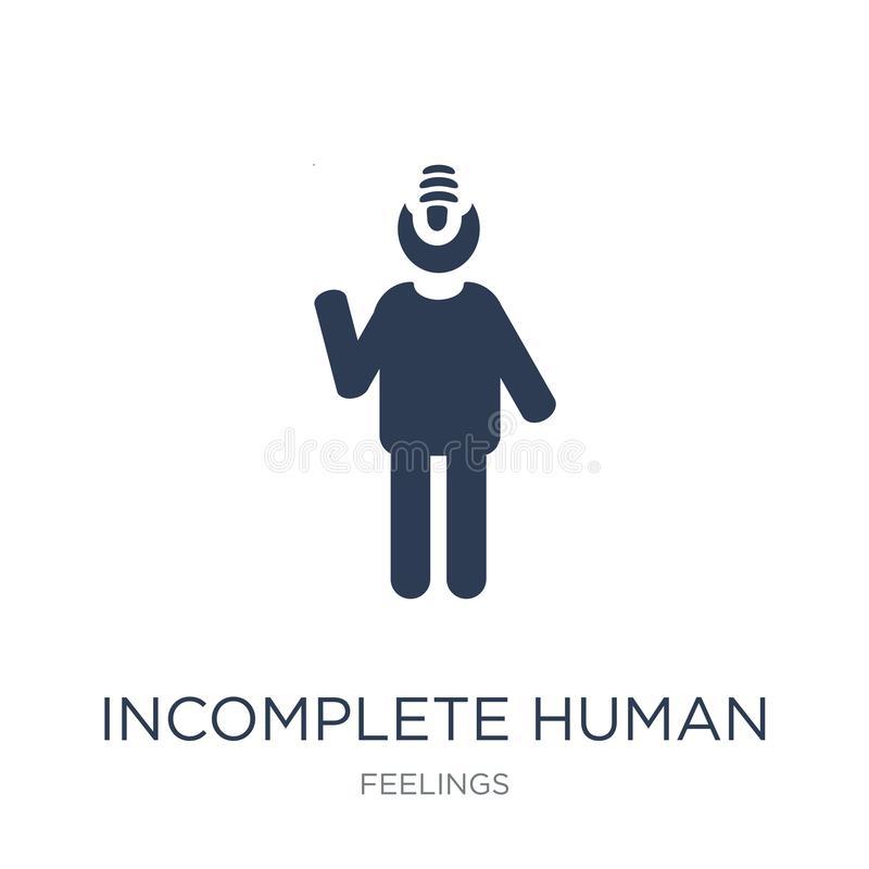 Incomplete human icon. Trendy flat vector incomplete human icon. On white background from Feelings collection, vector illustration can be use for web and mobile vector illustration