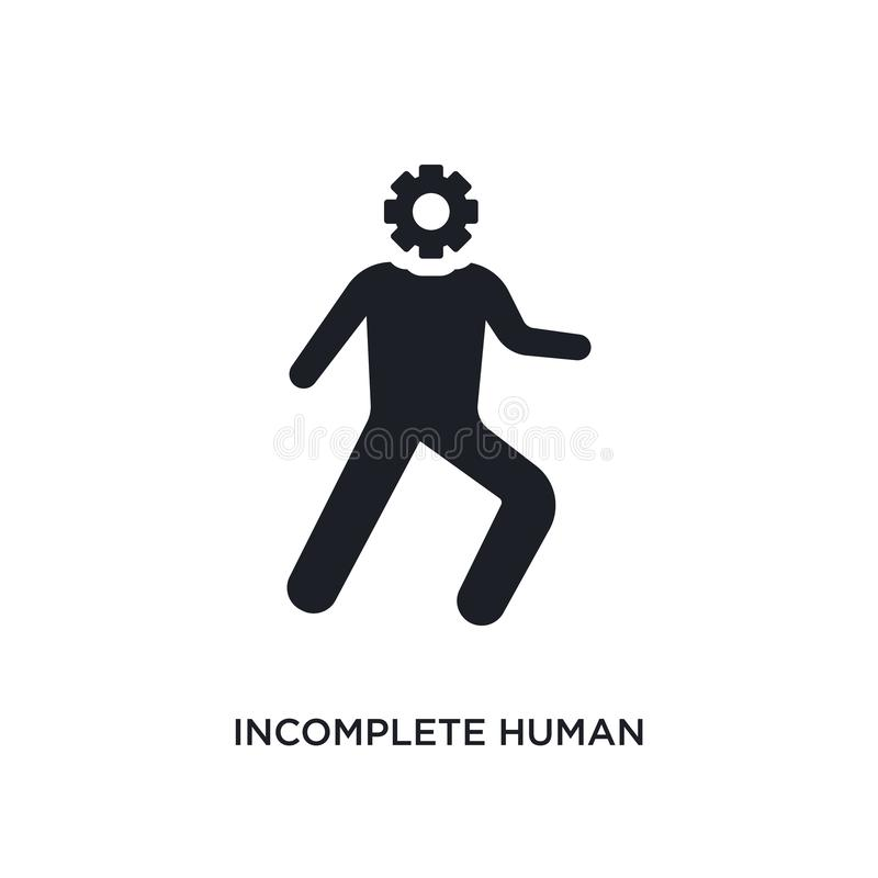 Incomplete human isolated icon. simple element illustration from feelings concept icons. incomplete human editable logo sign. Symbol design on white background vector illustration