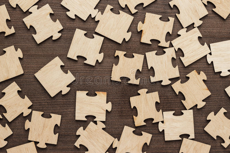Incomplete puzzle pieces stock photography