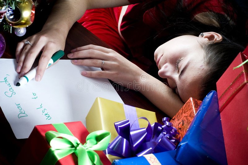 Download Incomplete Wishlist stock image. Image of table, listing - 7375609