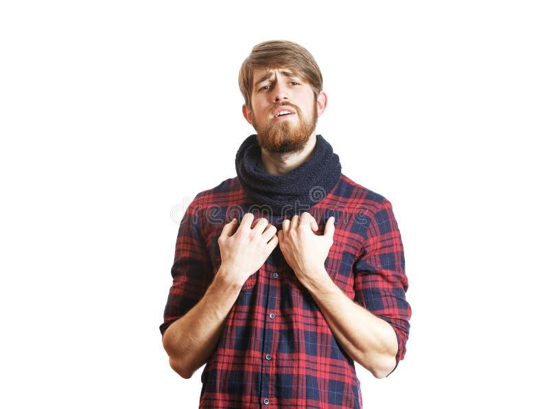 Inconformista barbudo que canta imagen de archivo libre de regalías