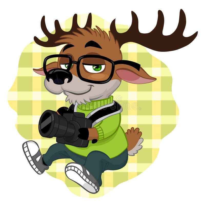 Inconformista de los ciervos ilustración del vector