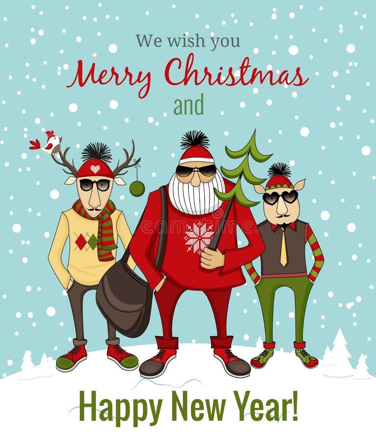 Inconformista Papá Noel y compañía libre illustration