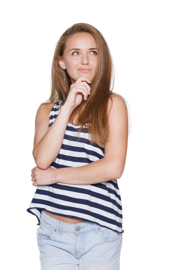 Inconformista pensativo del adolescente de la muchacha imagen de archivo libre de regalías