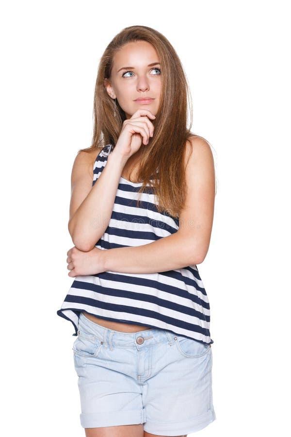 Inconformista pensativo del adolescente de la muchacha imágenes de archivo libres de regalías