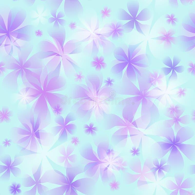 Inconsútil con la flor stock de ilustración