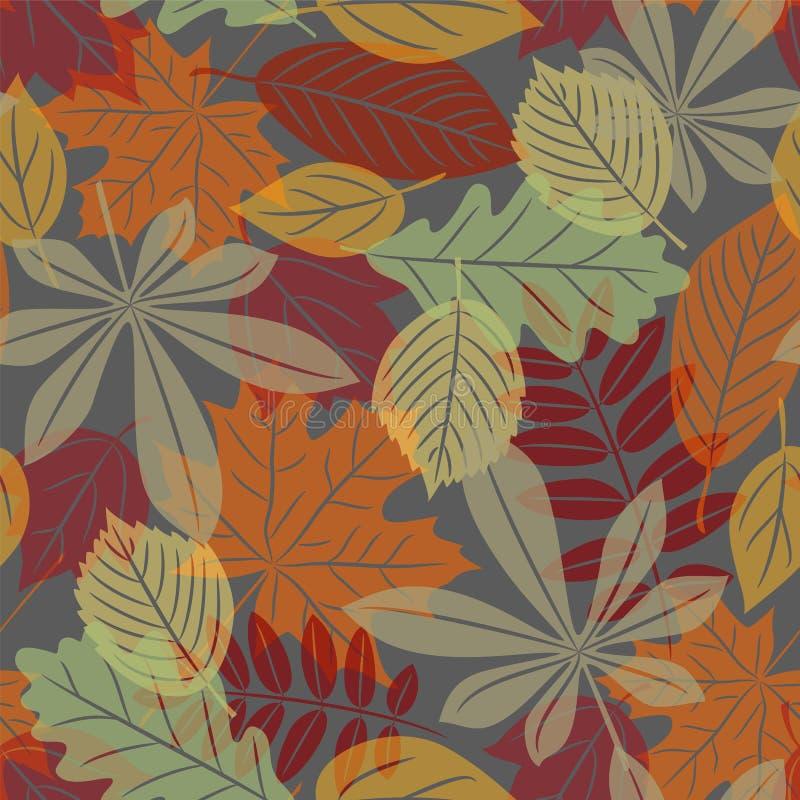 Inconsútil con las hojas de otoño ilustración del vector
