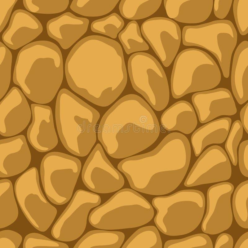 Inconsútil de piedra de la arena ilustración del vector