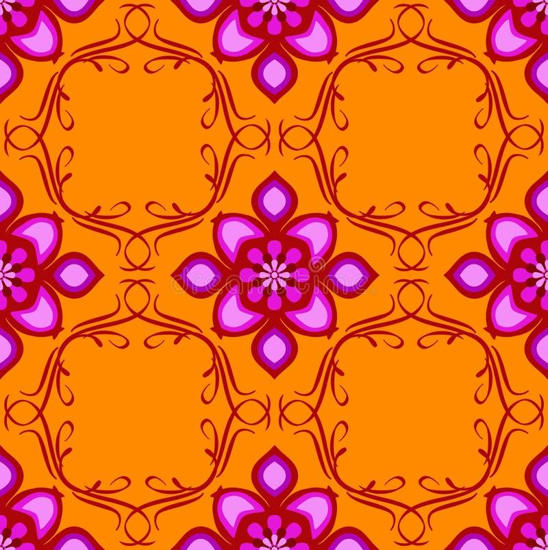 Inconsútil del este anaranjado y rosado libre illustration
