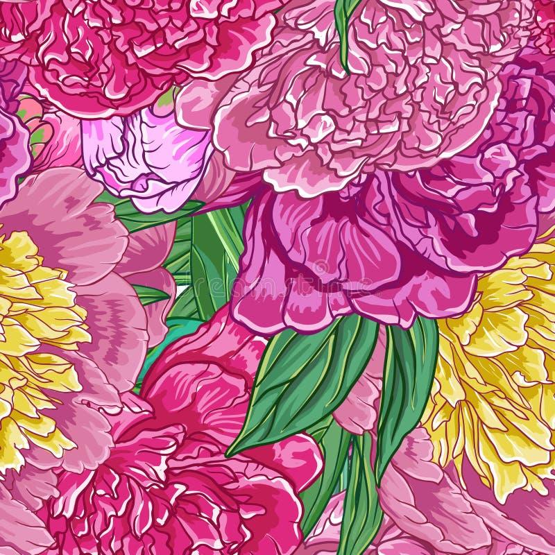Inconsútil floral de la vendimia stock de ilustración