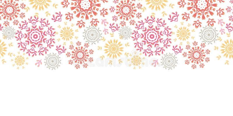 Inconsútil horizontal del extracto floral popular de los círculos libre illustration