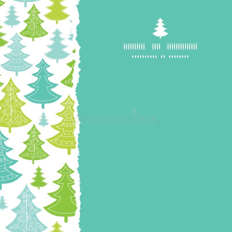Inconsútil rasgada cuadrado de los árboles de navidad del día de fiesta libre illustration