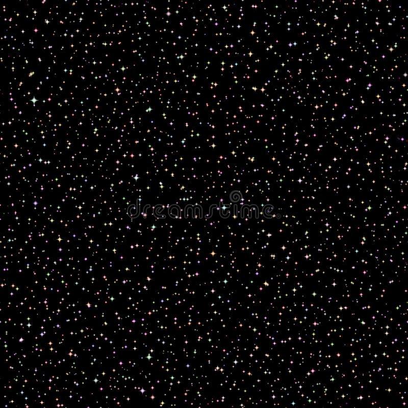 Inconsútil realista de la imagen del vector del cielo nocturno stock de ilustración