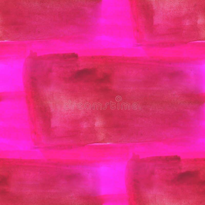 Inconsútil rosado marrón abstracto de la acuarela y del arte libre illustration