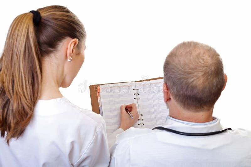 Date che si incontrano fra medici fotografie stock libere da diritti