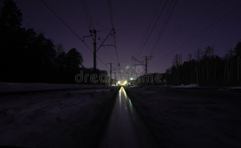 Incontrandosi notte fotografie stock