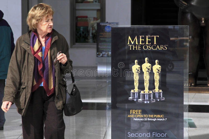Incontri il Oscars fotografia stock libera da diritti