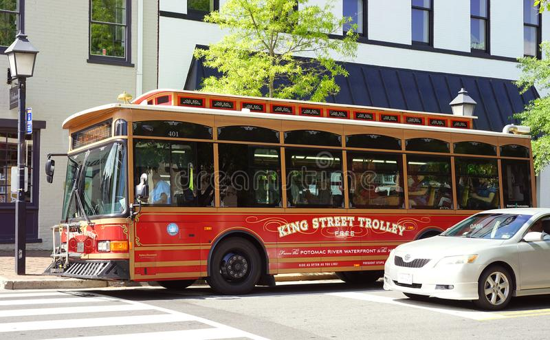 Historic Alexandria, Virginia trolley ride royalty free stock image