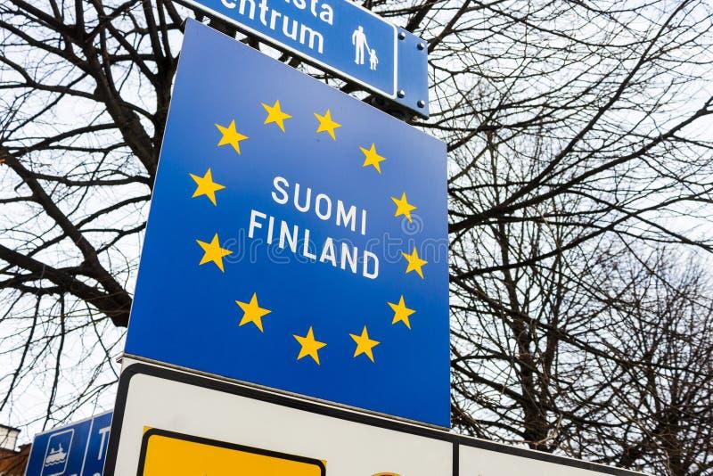 Incorpore o sinal de Finlandia fotos de stock royalty free